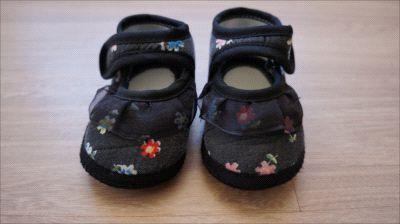 Sapatinho preto florido - nº 14