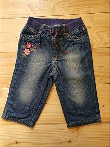 Calça jeans forrada - 3-6 meses