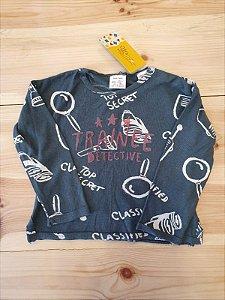 Camiseta manga longa - Zara 9 meses