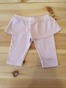 Calça legging com saia - 3 meses