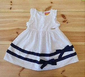 Vestido regata branco - Momi 2 anos