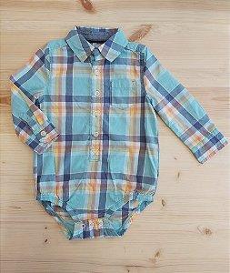 Body camisa manga longa -Oshkosh 18 meses