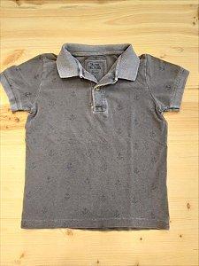 Camiseta polo cinza - 4 anos