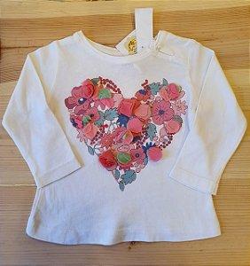 Camiseta manga longa - Zara 3-6 meses