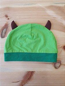 Touca verde monstrinho - 3-6 meses