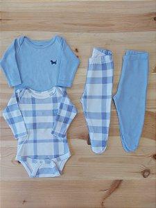 Conjunto 2 body + 2 calças - Um + Um 3 meses