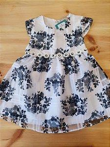 Vestido xadrez floral - Milon 12 meses