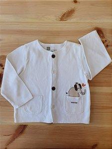 Casaco branco - GAP 6-12 meses