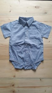 Body camisa manga curta - BabyClub 9-12 meses