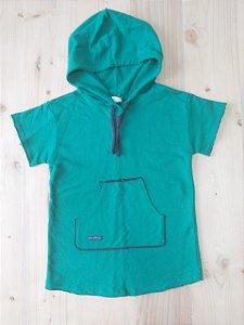 Camiseta manga curta com capuz - Green 4 anos
