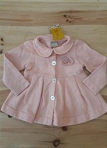 Casaco rosa com laço - Milon 3 anos
