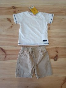 Camiseta manga curta + shorts - Marisol/Baby Way 6 meses