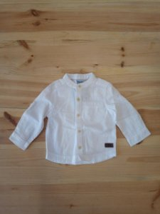 Camisa branca manga longa - BabyWay 3-6 meses