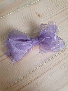 Laço sobreposto lilás