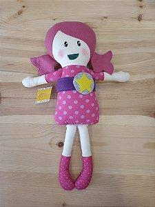 Brinquedo pelúcia boneca rosa