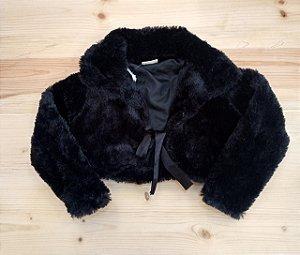 Bolero pelúcia preto - Brandili 3 anos