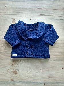 Casaco manga longa azul marinho - Xameguinho 3 meses
