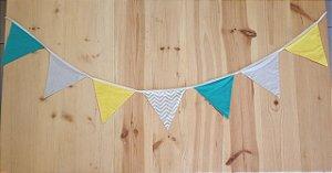 Bandeirola verde/amarela/cinza