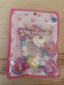 Brinquedo bracelete unicórnio - Magic Petz 4 anos