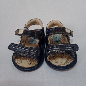 Sandália velcro azul marinho - Klin nº 16