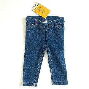 Calça jeans moletom - Carters 6 meses