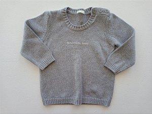 Casaco linha cinza - Benetton 9-12 meses