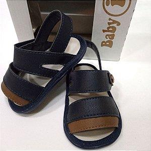 Sandália azul com velcro - Baby i nº 16
