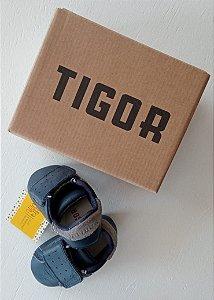 Tênis couro azul com velcro - Tigor nº 16