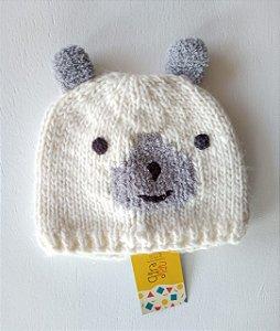Gorrinho lã urso - 9-12 meses