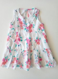 Vestido regata floral - 12 meses