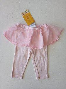 Calça listrada com saia tutu - Carter's 6 meses