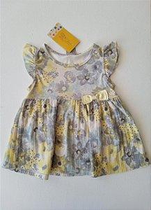 Bata cinza flor amarela - Brandili 3 anos