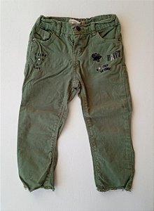 Calça jeans verde - Baby Club 2 anos