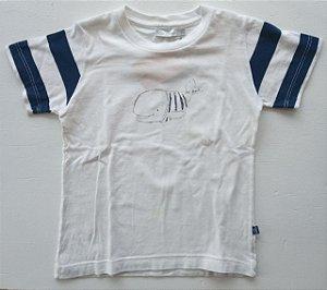 Camiseta manga curta baleia manga listrada - Old Bunch 2 anos