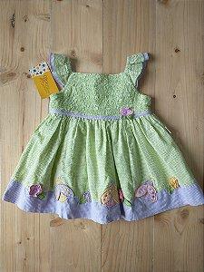 Vestido quadriculado - 9-12 meses