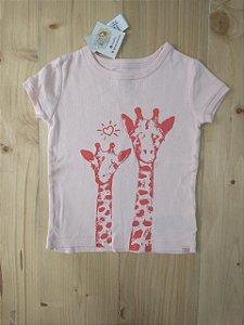 Camiseta manga curta girafa - Gap 12-18 meses