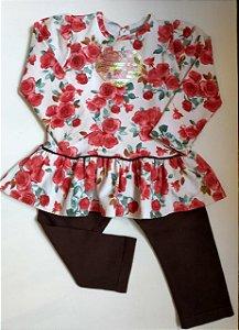 Conjunto Bata + calça moletom - Carinhoso 12 meses