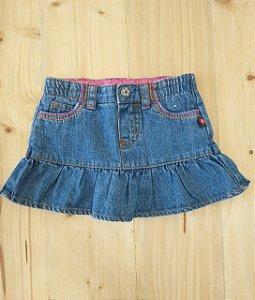 Saia jeans babados - Carter's 9 meses