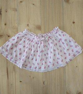 Saia rosa floral - Zara 12-18 meses