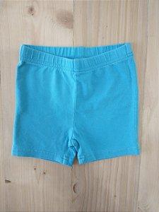 Shorts cotton azul claro - 18 meses