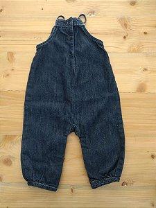 Macacão jardineira jeans - Gap 3-6 meses