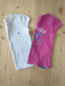 Kit 2 Camisetas rosa + branca - Tommy Hilfiger 18 meses