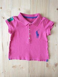 Camiseta polo manga curta - Ralph Lauren 12-18 meses