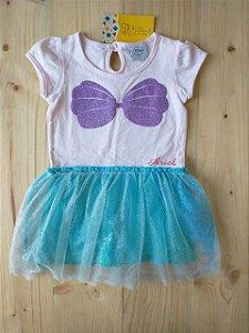 Fantasia sereia Ariel - Disney 12 meses