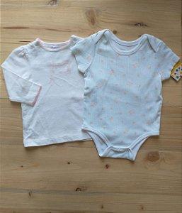 Kit body manga curta + camiseta manga longa - Ralph Lauren 3-6 meses