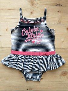 Body vestido listrado - Calvin Klein 12 meses