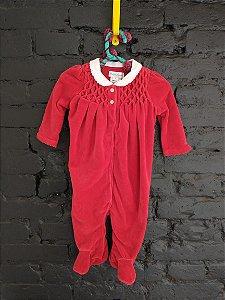 Macacão veludo vermelho - Ralph Lauren 3 meses