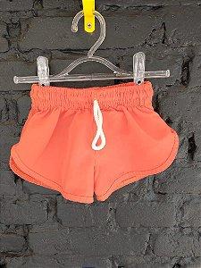 Shorts tactel laranja - 6-9 meses