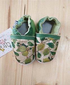 Saptinho couro verde estampado - Babo Uabo nº 19