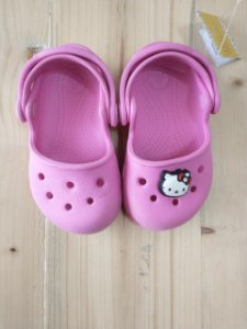 Crocs rosa Hello Kitty - C6 nº 19/20